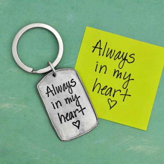 Love note on a key ring