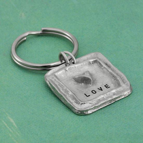Organic pewter key ring