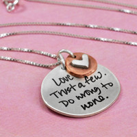 Custom handwriting jewelry