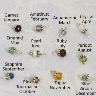 Birthstones for necklace