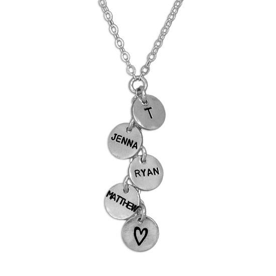 Thai charm cascade necklace