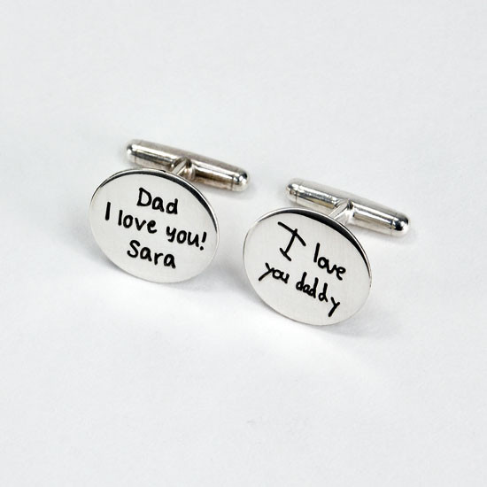 Custom cuff links with children's drawings