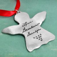 Handwriting Angel Ornament