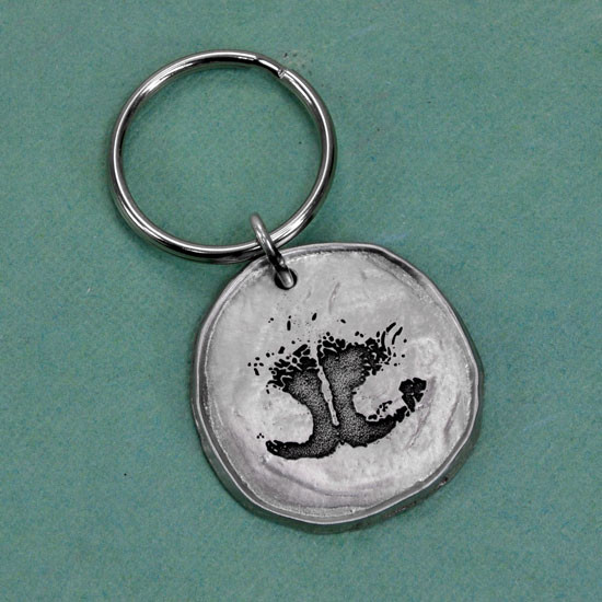 Custom nose print key ring