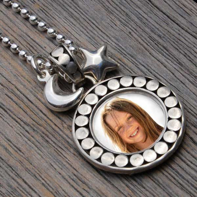 Bali Silver Picture Frame Necklace