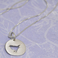Birdie Charm Necklace - gold or silver