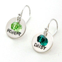 Birthstone Name Earrings