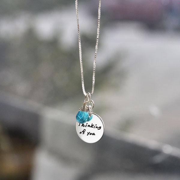 Custom Handwriting Jewelry Charms, with birthstone