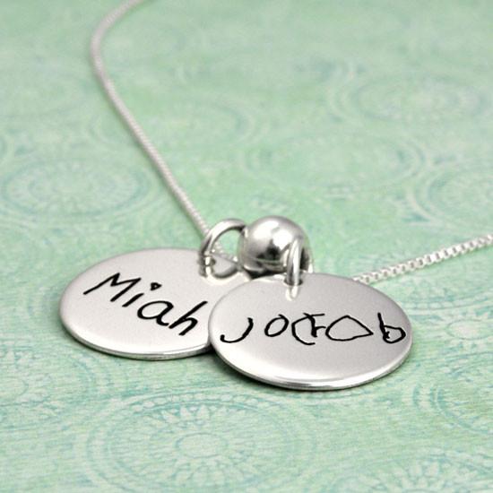 Children's handwriting jewelry