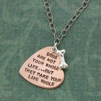 Dog Lover's Poem Necklace