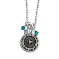 Etched Grandma Circle of Love Necklace