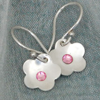 Flower Birthstone Earrings -  SALE