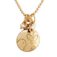 Gold Birdie and Butterfly Necklace