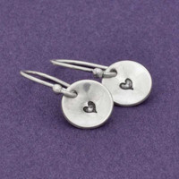 Heart Imprint Earrings