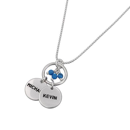 Hollow Circle Name Necklace