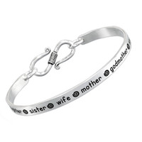 Hand-Stamped Inspiration Bracelet in Sterling Silver - Bracelet for Mom