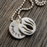 Lotus Charm with Disc Necklace