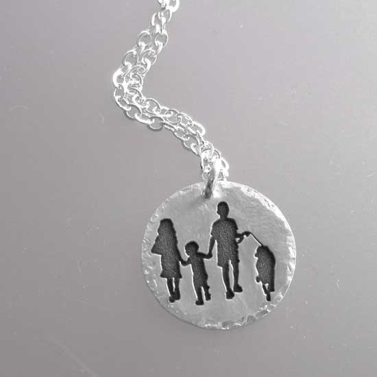Photo of kids on a necklace