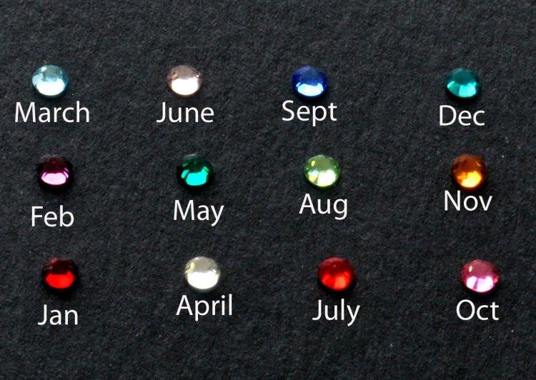 birthstone color options