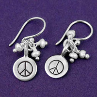 Peace with Cluster Earrings