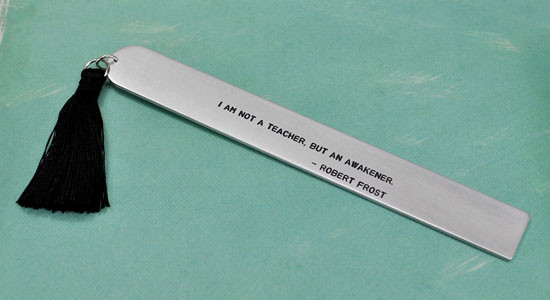 Personalized custom bookmark