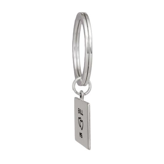 Square Life Key Ring