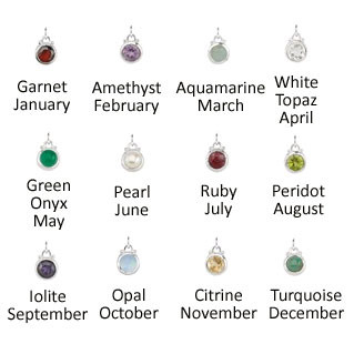 Sterling & Semi-Precious Birthstone (ALL MONTHS)