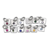 Tiny Squares Birthstone Charms