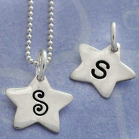 Tiny Star Initials Necklace