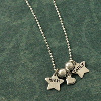 Tiny Stars Name Necklace