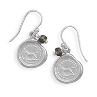 Wax Seal Earrings- Faithful
