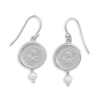 Wax Seal Earrings- Forget Me Not