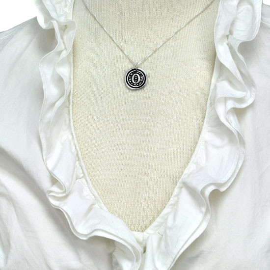 Wax Seal Initials Necklace