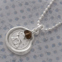 Wax Seal Necklace - Faithful
