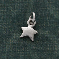 Sterling Silver Whimsical Star Charm