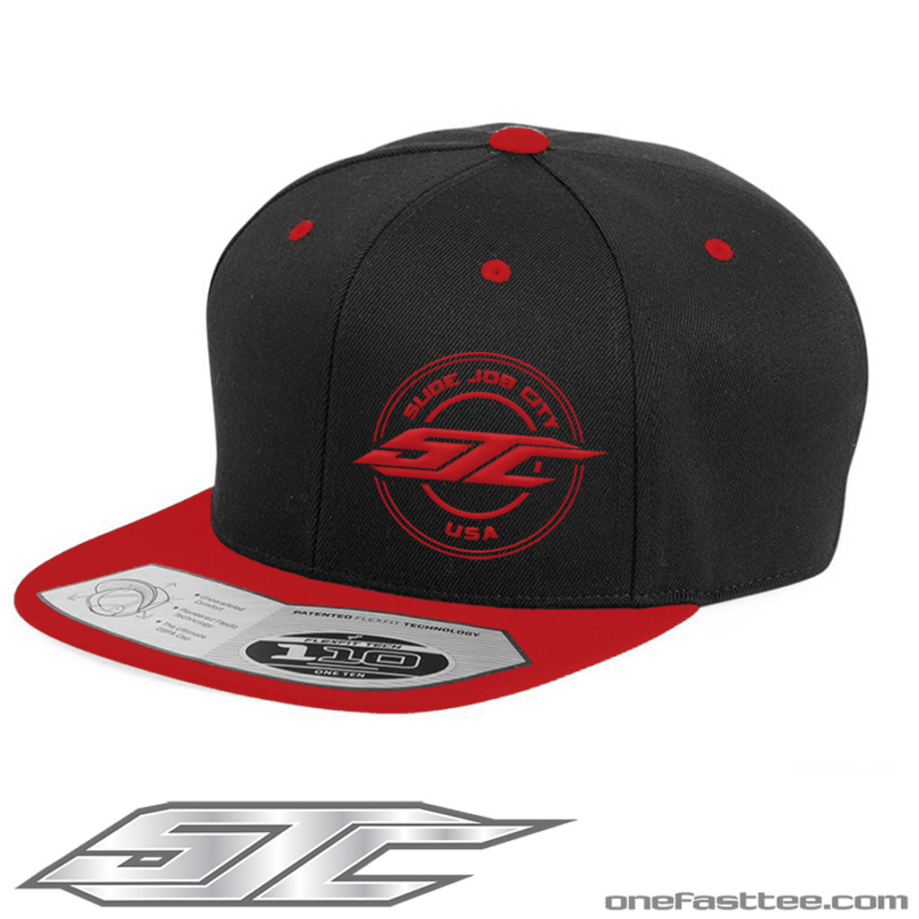 SJC 110F SNAPBACK 2TONE RED/BLACK