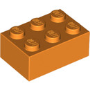 16056629 LEGO Orange Brick 2 x 3 (3002)