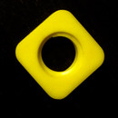 16-15908y Erector-Meccano A052, Yellow Plastic Square Nut with Rounded Corners