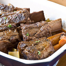 6 (1lb) Braised Short Ribs in Red Wine Sauce