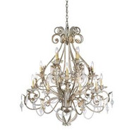 Hampton Bay Allure 16-Light Hanging Silver and Gold Chandelier