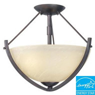 Hampton Bay Altham 2-Light Bronze Semi-Flush Mount