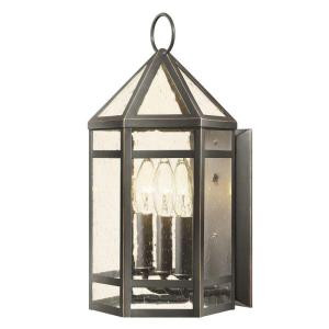 Hampton bay exterior three light wall lantern oil rubbed bronze hampton bay exterior three light wall lantern oil rubbed bronze finish clear seeded glass mozeypictures Images