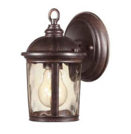 Hampton Bay Leeds 7 in. Wall-Mount Outdoor Mystic Bronze Lantern