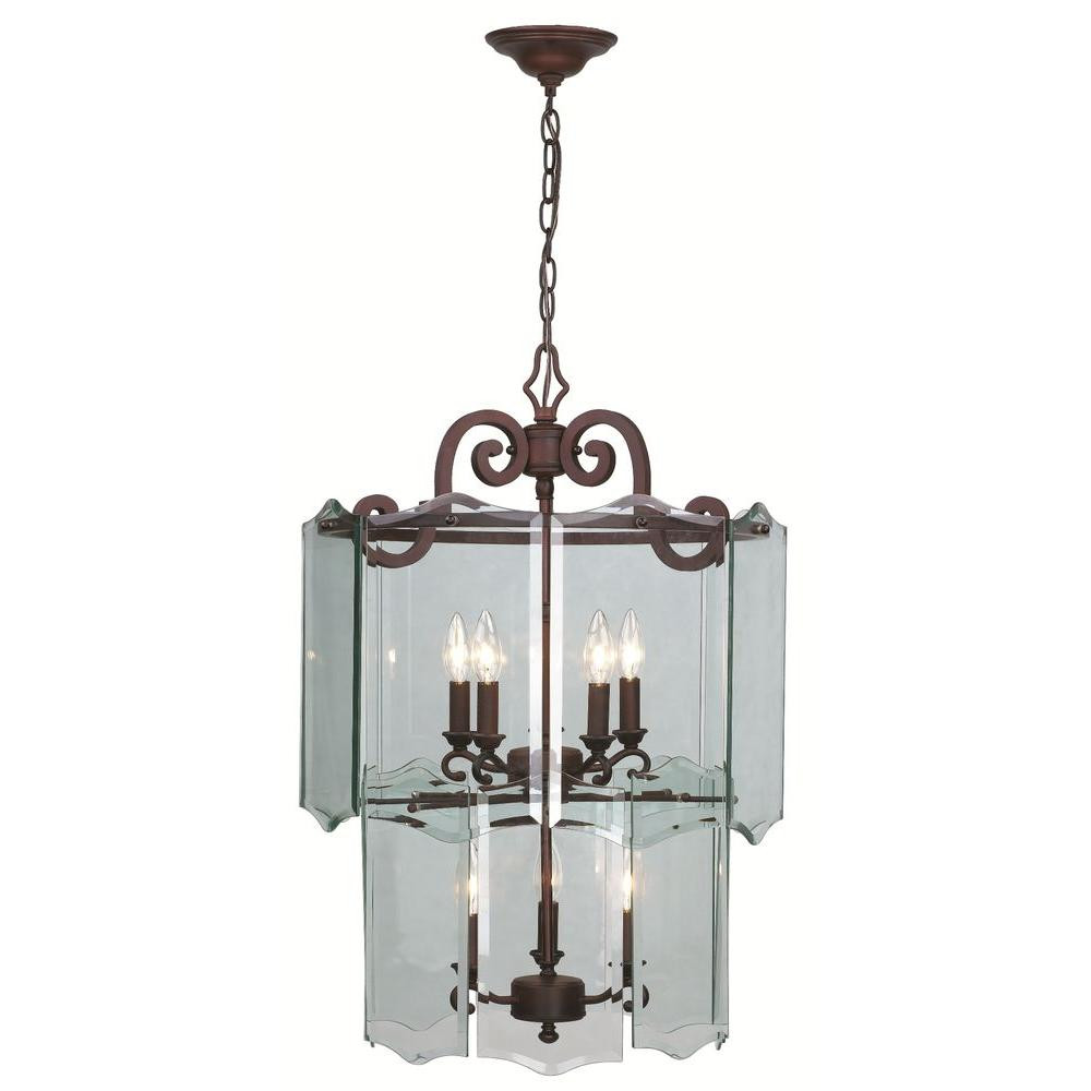 Hampton Bay Beverly Collection 8Light Hanging OilRubbed