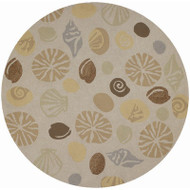 Couristan Outdoor Escapes Barnegat Bay Novelty Rug - round 7'10