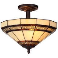 Hampton Bay Addison 2 Light Semi-Flush