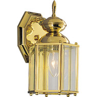 Progress Lighting BrassGUARD Outdoor Polished Brass Wall Lantern