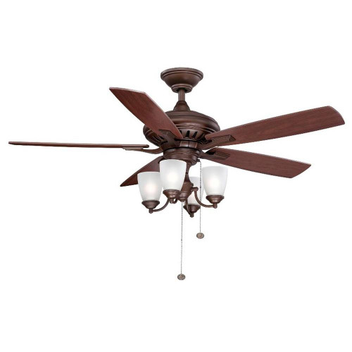 oil rubbed bronze ceiling fan with light flush mount hunter 54 bay lane in 1702213924160500659 new kit
