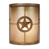 Hampton Bay Lone Star1-Light Outdoor Desert Sands Wall Sconce