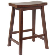 "Winsome 24"" Saddle Seat Bar Stool"